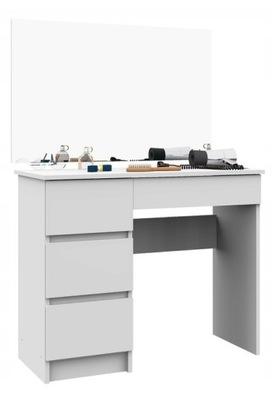 Туалетный столик, МАДЕМУАЗЕЛЬ гранде, белая , Слева , зеркало