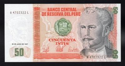 Перу 50 INTIS P-131b UNC 1987