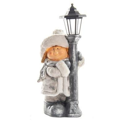 Большая фигурка рождественская ДЕВОЧКА из маяк LED