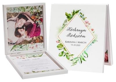 Zaproszenia ślubne dla rodziców ZDJĘCIE druk R17
