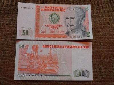 552.PERU 50 INTIS UNC