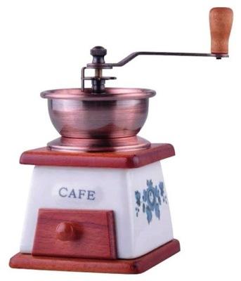 RUČNÝ MLYNČEK na kávu KÁVA KERAMICKÉ RETRO h21cm [N621