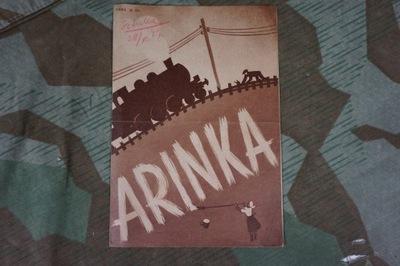 Arinka 1939 ulotka filmowa film Jan Mucharski