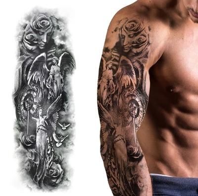 Tatuaż Zmywalny Tymczasowy Wodny Rękaw Lew Słoń