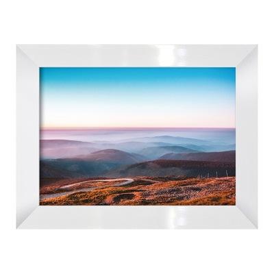 Фото-изображение Гористая Пейзаж с дорогой и туман Рама