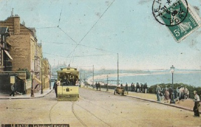 LE HAVRE. LE BOULEVARD MARTIME. 1909. ТРАМВАЙ