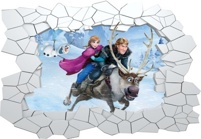 Fototapeta Frozen Elza hole in the wall XL