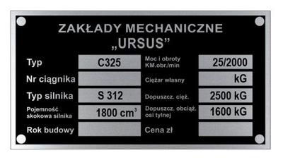 ПАНЕЛЬ МАРКИРОВОЧНАЯ URSUS C 325 C325 - WYBITA