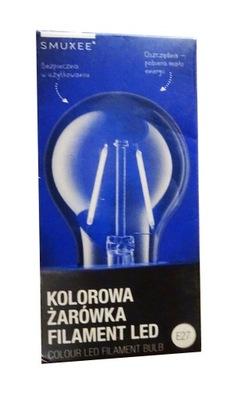 ЦВЕТНАЯ ЛАМПА filament LED E27 синяя аутлет
