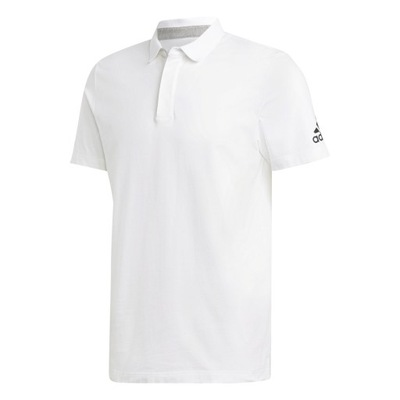 c2de102fa ADIDAS koszulka polo biała FFF climalite roz. L - 1816939918 ...
