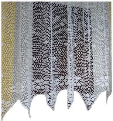 Шторный вязание крючком хлопковая нить 140x70 белая Вк