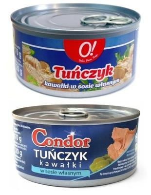 тунец штук консервов в собственном соку 170г CONDOR