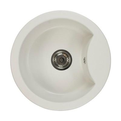Umývadlo s jednou misou, okrúhle, zo žuly