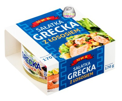 Греческий салат с Лососем 170г. МК