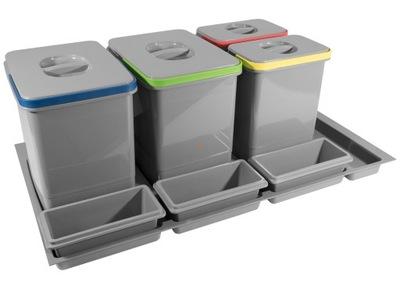 Корзина Связыватель для мусора 90 2x15L, 2x7L MULTINO