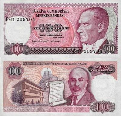 # Турция - 100 ЛИРА - 1970-Х - Р-194 - UNC