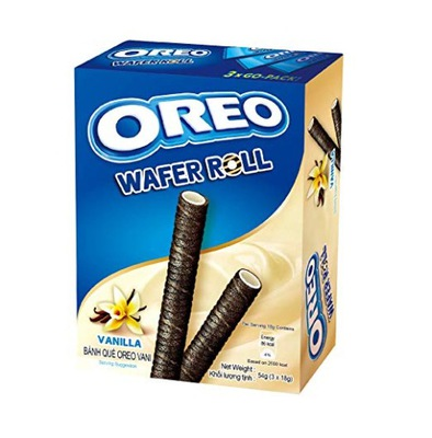 Oreo Вафли Roll Vanilla 54g трубочки Oreo Ваниль
