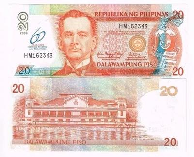 Банкнота Филиппины 20 piso 2009 P-200 UNC