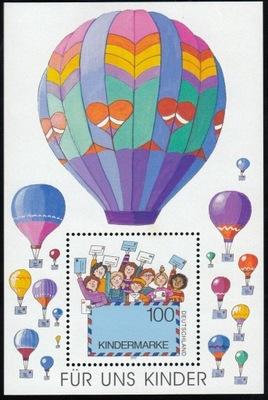 Niemcy 1997 Znaczki Blok 40 ** balony dzieci listy