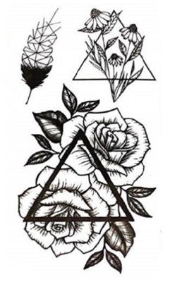 G32 Tatuaż Zmywalny Tymczasowy Wodny Róża Kwiaty