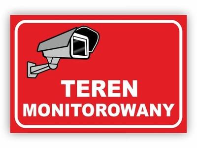 TABLICZKA TEREN OBIEKT MONITOROWANY PCV 30x20