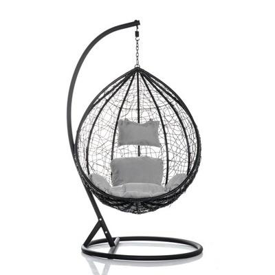Кресло висящий Черный Качалки садовый КАЧЕЛИ