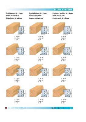 Noże profilowe 40x4mm do głowicy uniwersalnej NOWE