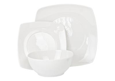 столовый сервиз комплект тарелок 18el Франко белое