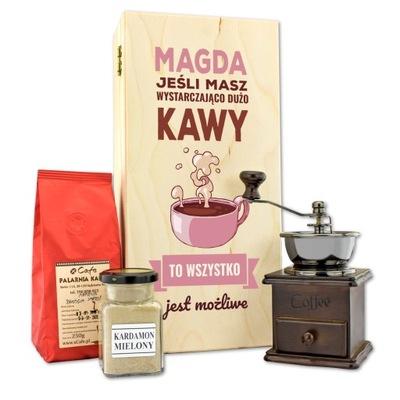 DARČEKOVÁ sada na kávu KARDAMON mlynček na kávu príručka
