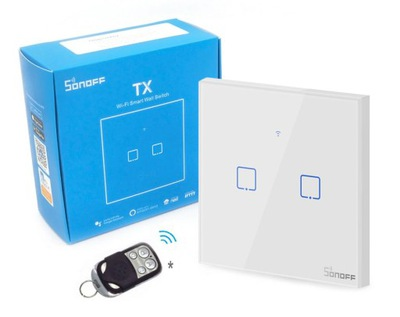 Sonoff TX T1 2C Сенсорный Выключатель Wi-fi RF 433 мгц