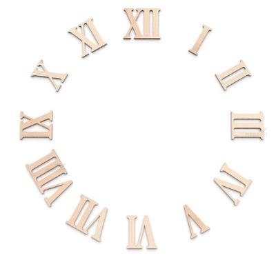 Cyfry zegara rzymskie sklejka hdf lub tektura 3cm