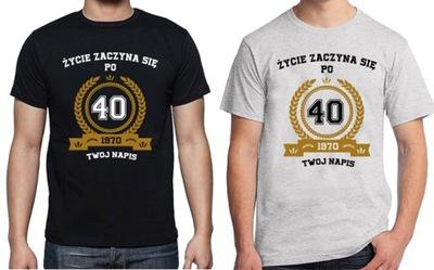 40 urodziny w T shirty męskie Allegro.pl