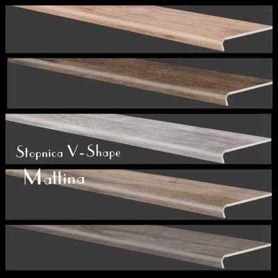 Stopnica V-Shape плитки керамогранит Mattina 30x120 Cerrad