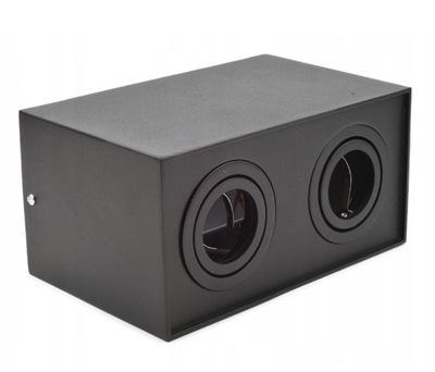 Nástenné svietidlo DVOJITÉ GU10 spot LED trubice B7175