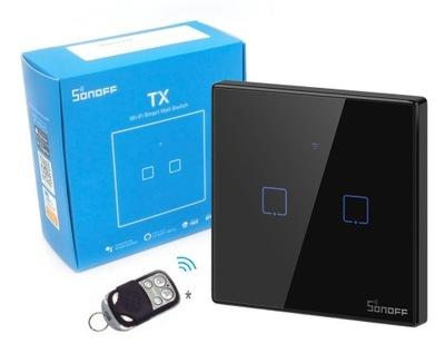 Sonoff TX T3 2C Сенсорный Выключатель Wi-fi RF 433 мгц