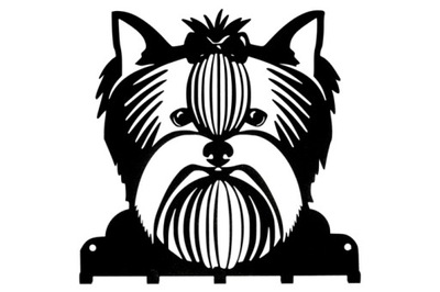 вешалка ключи Собака Йорк Черный сталь