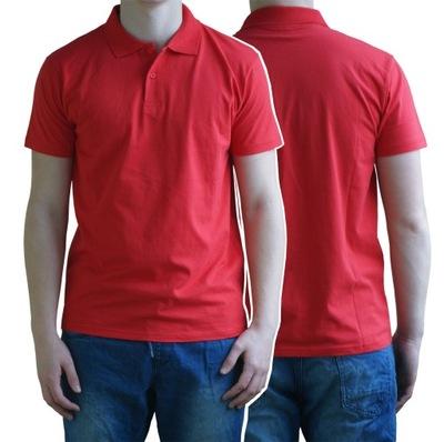 Koszulka POLO Męska 100% Bawełna Czerwona XXL