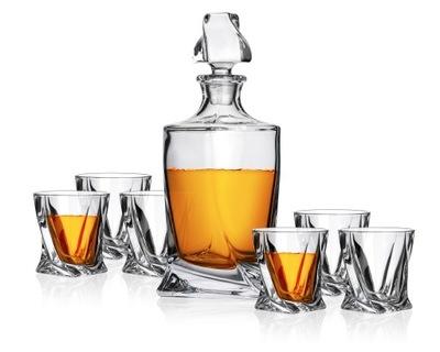 комплект ??? виски Quadro bohemia 6 стакана+графин