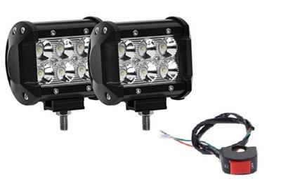 CREE LED-светодиодные лампы прожекторного типа 2 шт + ВЫКЛЮЧАТЕЛЬ
