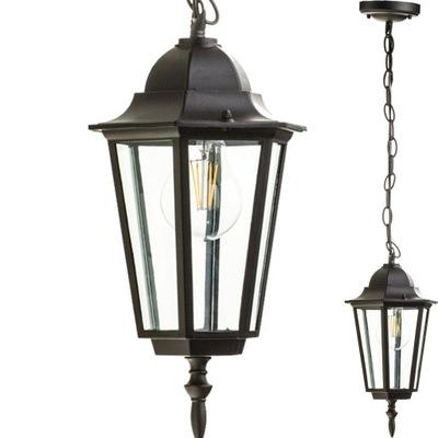 Lampa ogrodowa wisząca LO4105 E27 IP44 KOBI Czarna