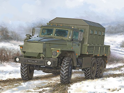 Грузовик военная УРАЛ-4320 ЧЗ 01071 Трубач