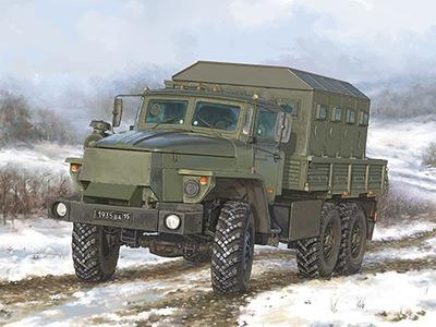 Ciężarówka wojskowa URAL-4320 CHZ 01071 Trumpeter