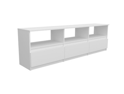ТУМБА RTV H008- 3 ящик , белая черная