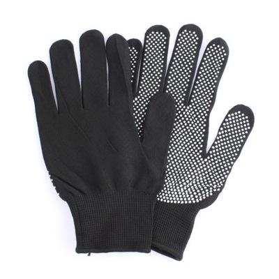 Rękawice termoochronne fryzjerskie czarne szare