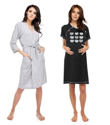 9504 9243 Doctor Nap ciążowy szlafrok i koszula 7673276399  44hkg