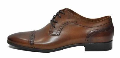 d25865308fcfb Brązowe buty męskie do garnituru Modini r. 43 T92 7388022385 ...