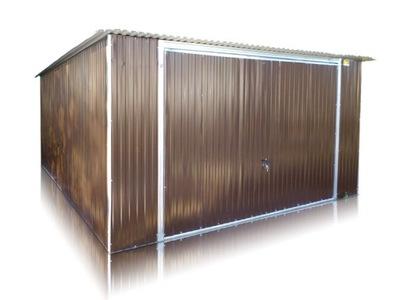 Garáž železa 4x6 garáže vo farbe kyvné dvere