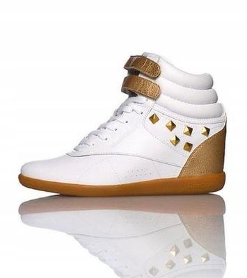 Sportowe Wysokie Koturny Za Kolano Sneakersy 39
