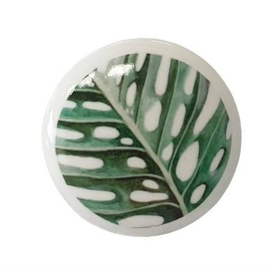 Ручка ??? мебели МОНСТЕРА-ПАЛЬМА, ЛИСТ, зеленый dotdesign