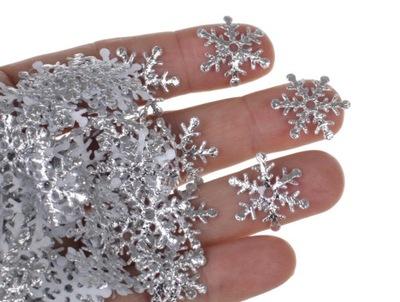 Серебряные снежинки ??? скрапбукинга 350 конфетти G3